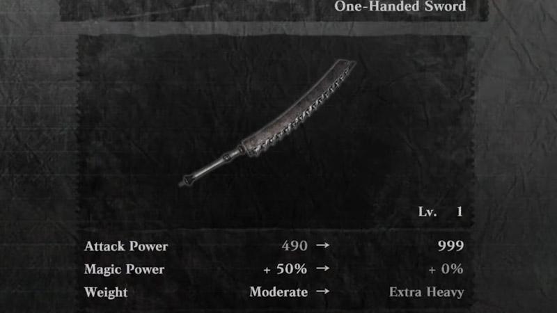 Kaine Sword Stats
