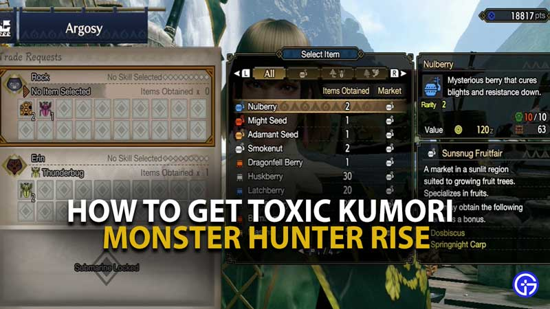 MH RIse Toxic Kumori Guide