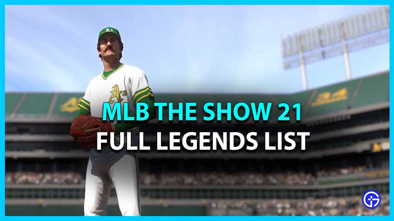 MLB The Show 21 Legends List
