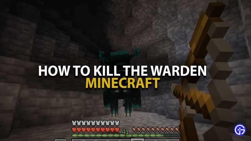 Minecraft Kill The Warden