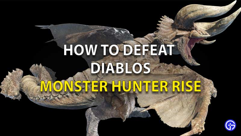 Monster Hunter Rise How To Beat Diablos