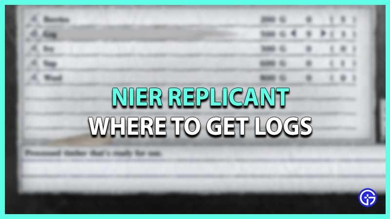 nier replicant how to get logs