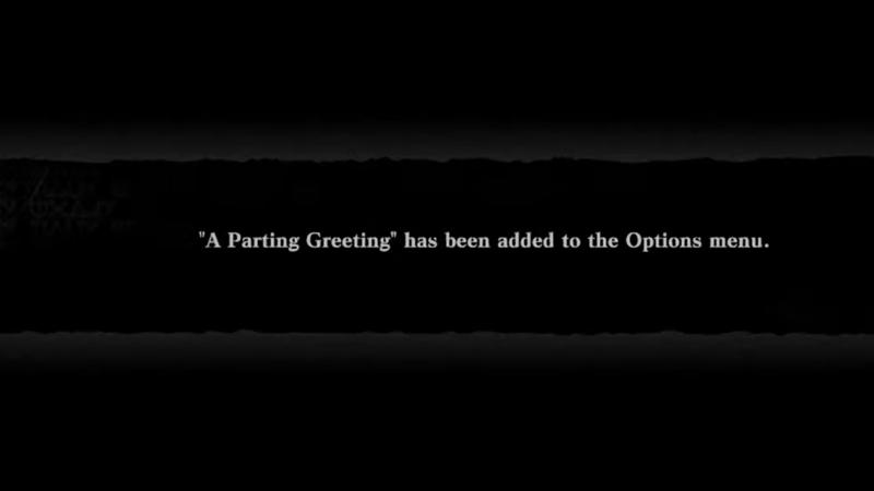 Parting Greeting Secret Weapon Notification Nier