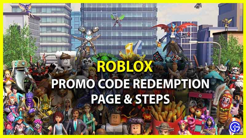 Roblox Promo Code Redemption Page