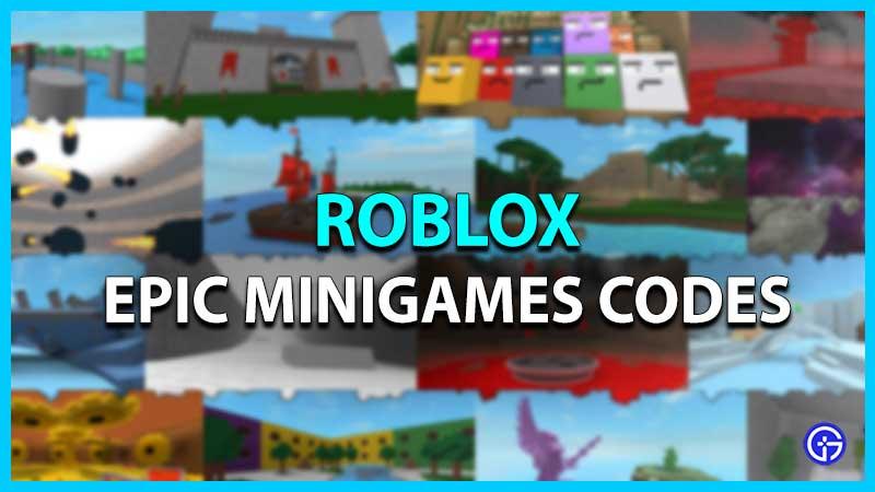 Roblox Epic Minigames Codes