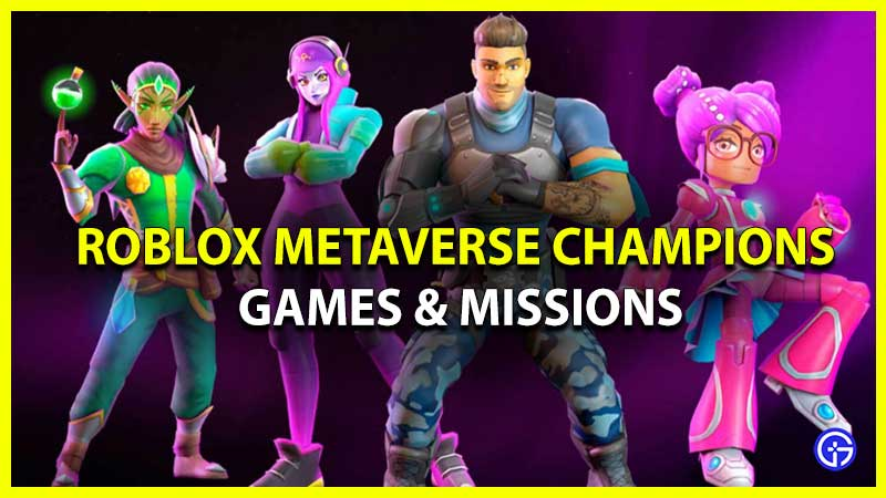 Full Roblox Metaverse Champions 2021 Games & Missions List