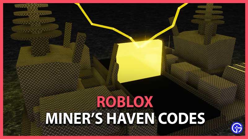 Roblox Miner's Haven Reincarnation Codes