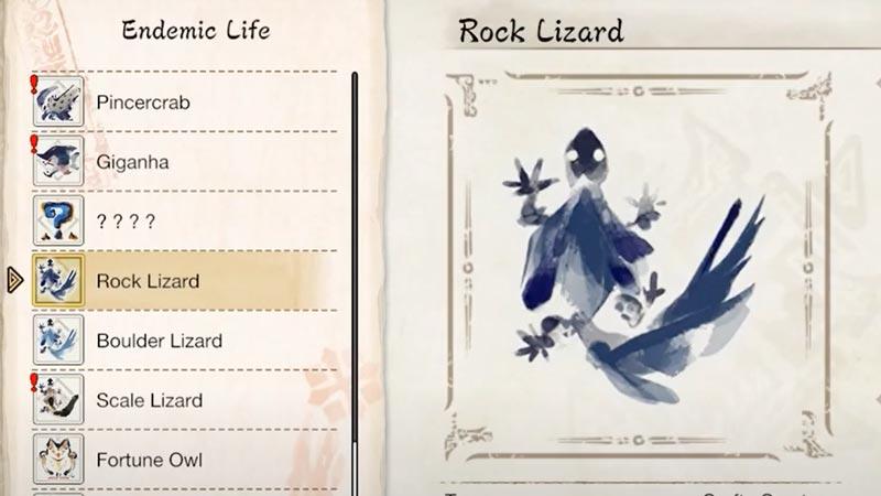 Endemic life Monster Hunter Rise