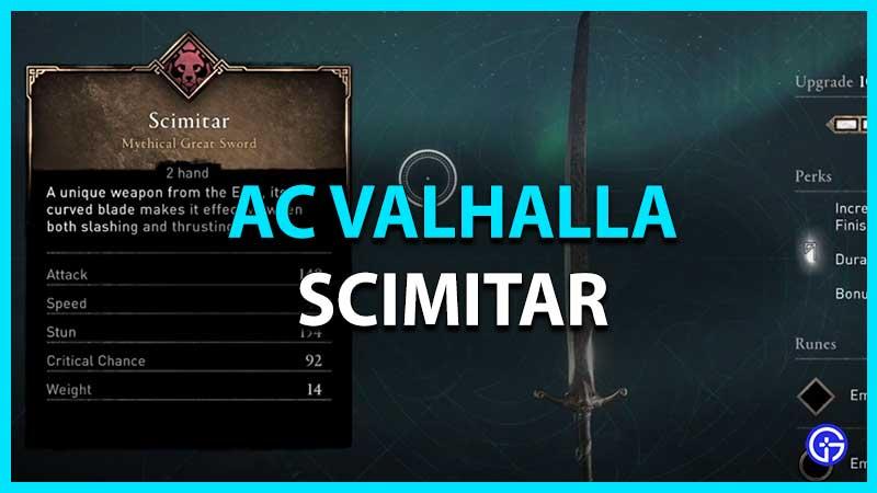 Scimitar Great Sword in Assassin's Creed Valhalla