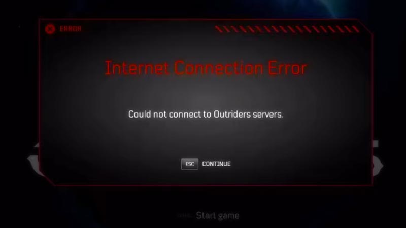 Server Communication Error in Outriders