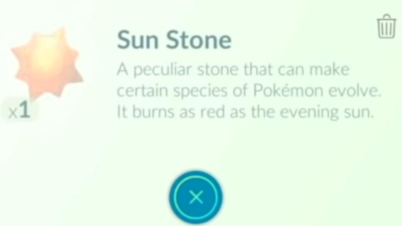 Sun Stone in Pokemon Go