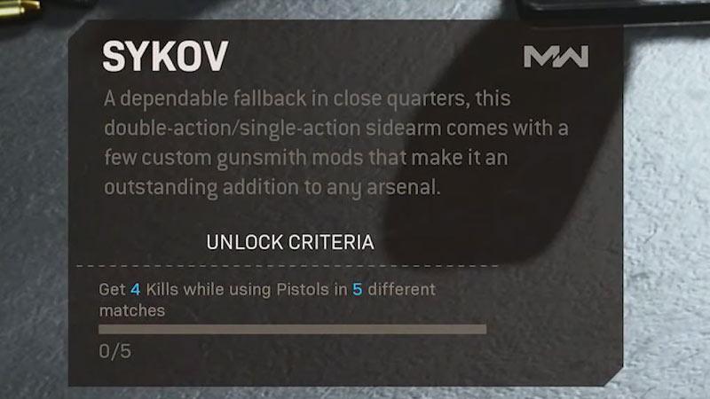 Sykov Pistol CoD