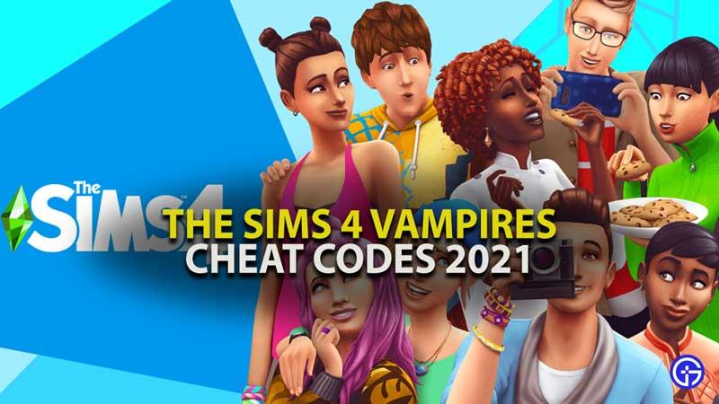 The Sims 4 Vampires Cheat Codes