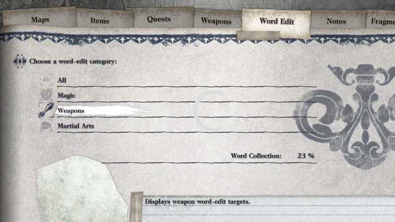 Word Edit Nier Replicant