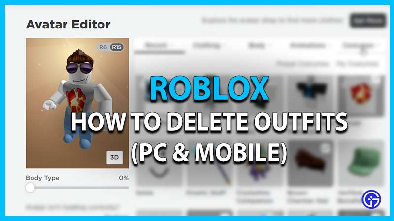 delete roblox outfits