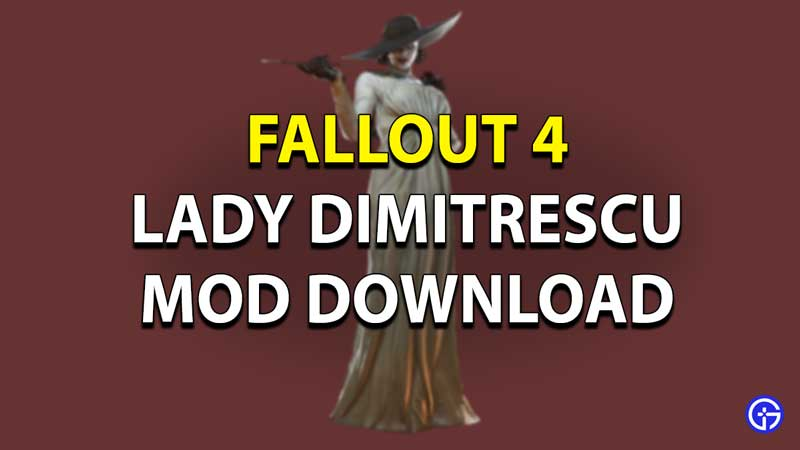 Fallout 4 Lady Dimitrescu Mod