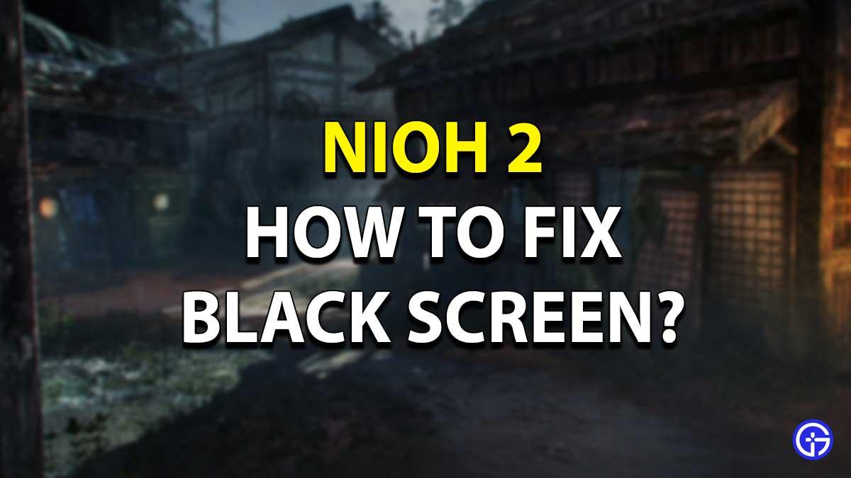 Nioh 2 Black Screen Fix