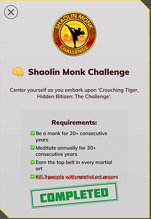 how to become a Shaolin Monk in BitLife
