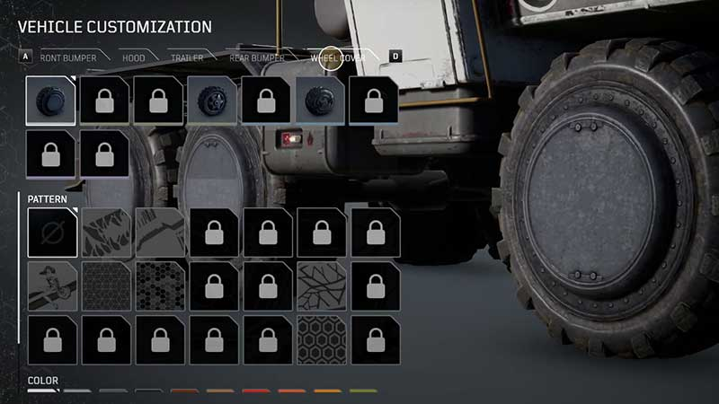how to customize vehicle outriders