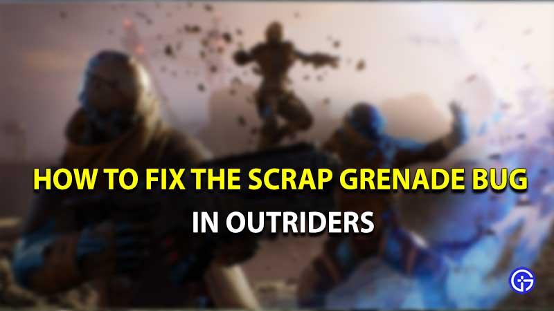 Outriders Scrap Grenade Bug