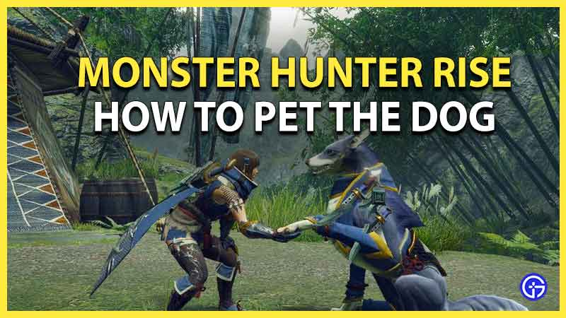 how to pet dog Monster Hunter Rise