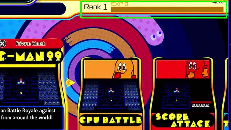 how to level up in ranks quickly pac man 99