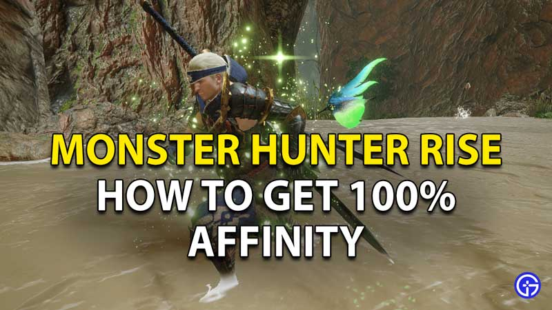 How to get 100% Affinity in Monster Hunter Rise