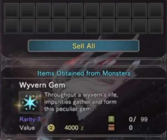 MHR Wyvern Gem Guide