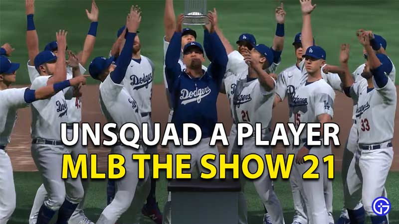 MLB The Show 21: How To Unsquad Players