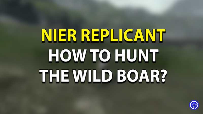 Nier Replicant Boar Hunting Quest