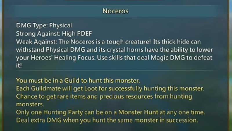 Hunt Noceros: Lords Mobile