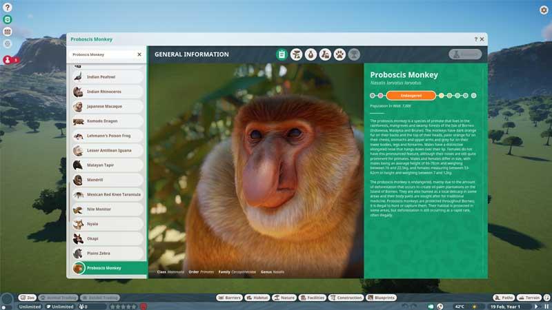 Planet Zoo Proboscis Monkey