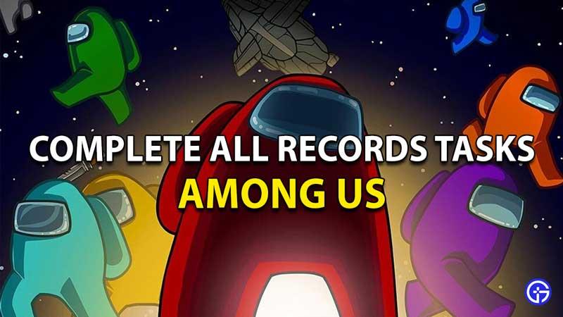 Among Us All Records Tasks