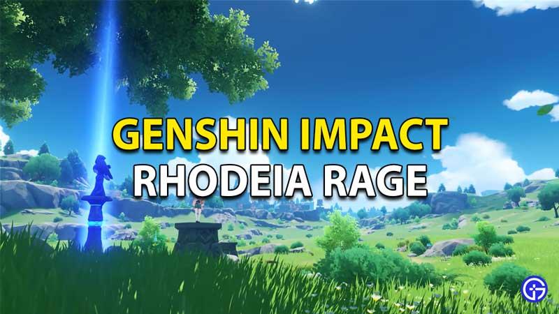 Genshin Impact Rhodeia's Rage
