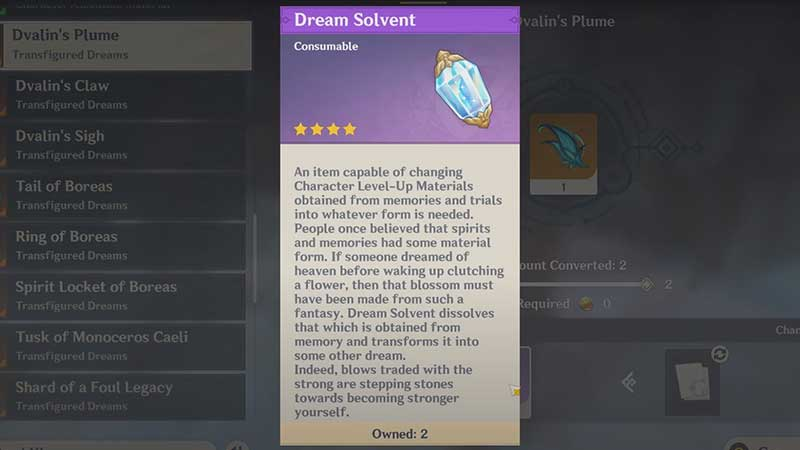what is dream solvent