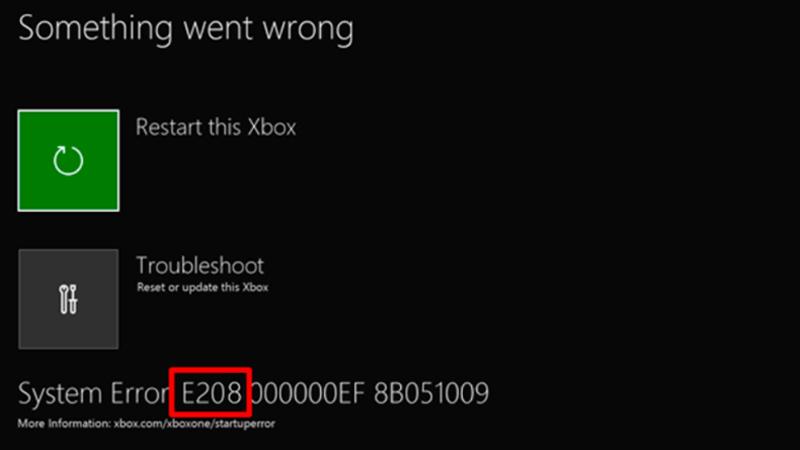 How To Fix XBOX System Error E208