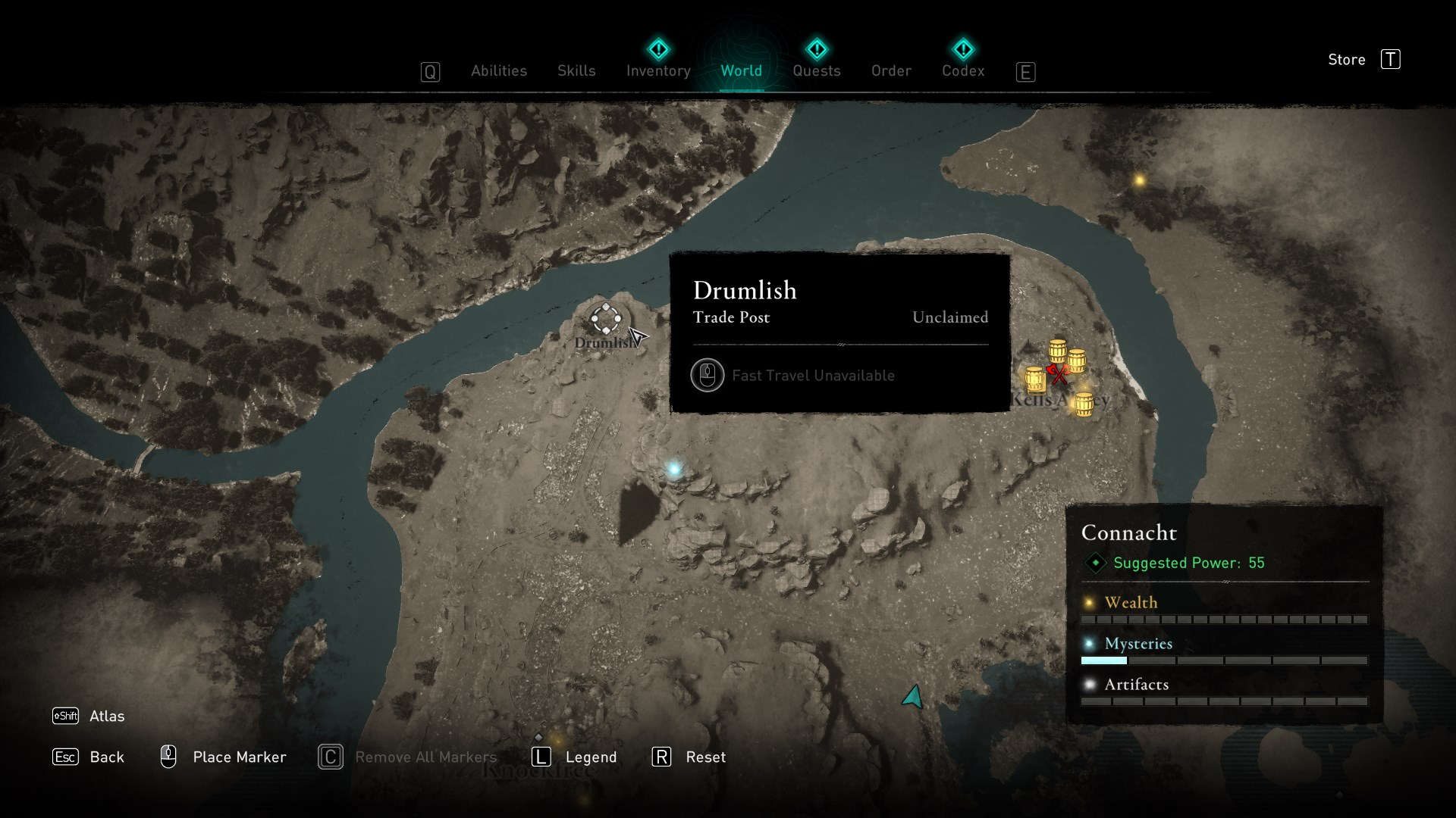 Assassins Creed Valhalla Wrath of the Druids All Trade Post Locations