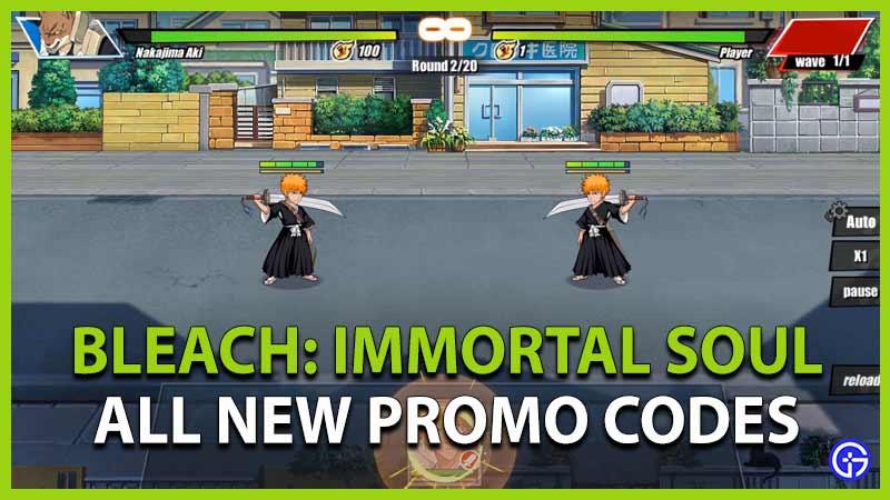 Bleach Immortal Soul Codes