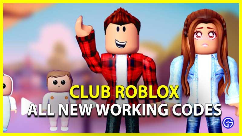 Club Roblox Codes