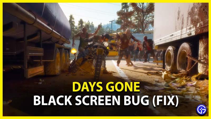 Days Gone Black Screen Bug Fix