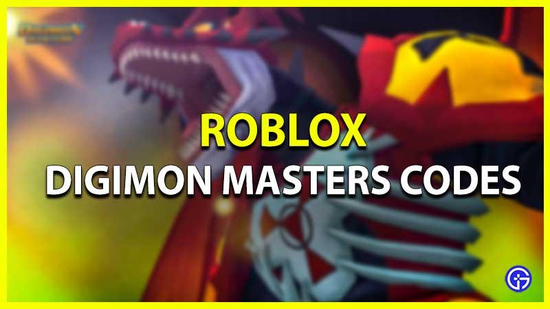 Digimon Masters Codes Roblox