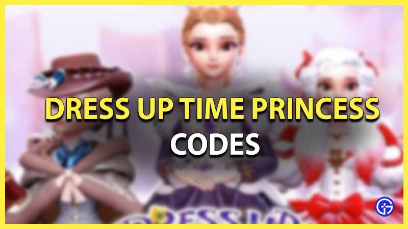 Dress Up Time Princess Redemption Codes