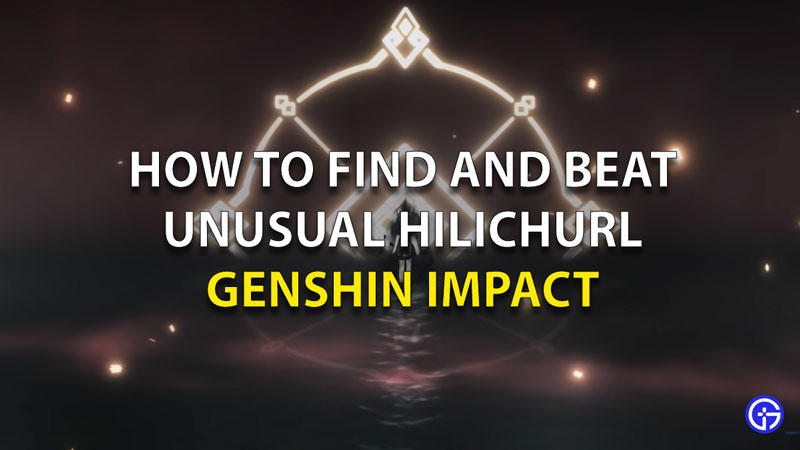 Find And Defeat Unusual Hilichurl