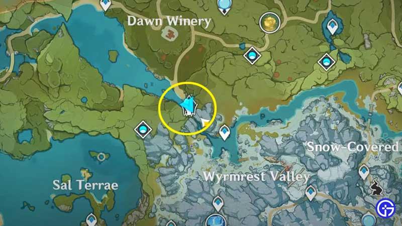 Genshin Impact Where Shadows Writhe Domain location on map