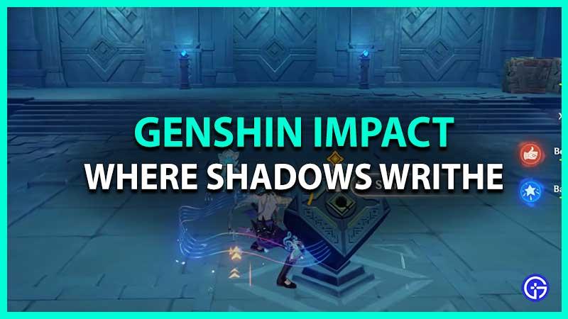 Genshin Impact Where Shadows Writhe Domain