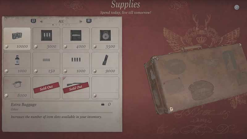 how to carry more items and weapons resident evil village