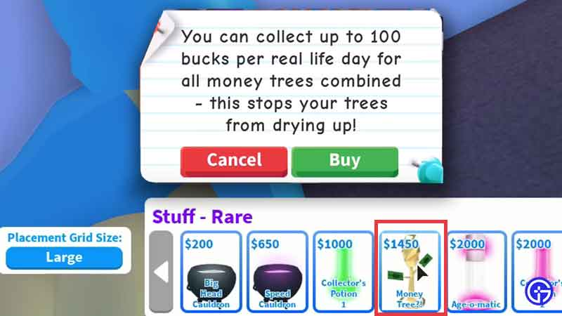 How does the Money Tree in Roblox Adopt Me work?