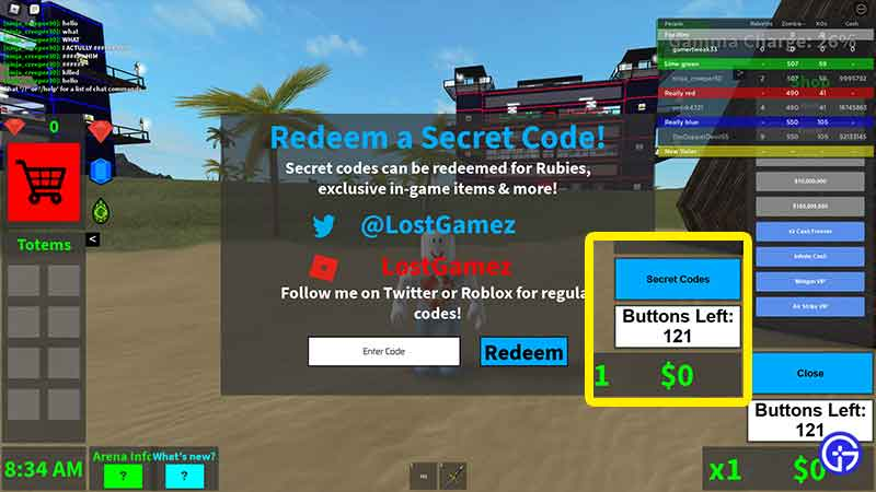 how to redeem codes in blood moon tycoon