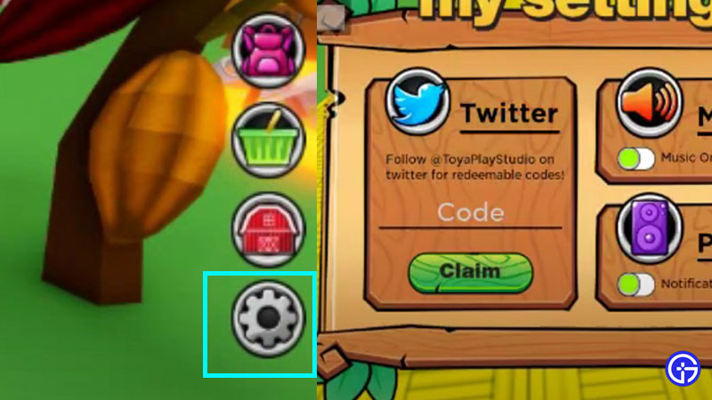 How to Redeem Codes in Roblox My Farm