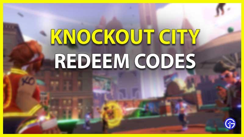 knockout city redeem code